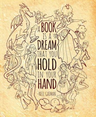 a book is a dream in your hand