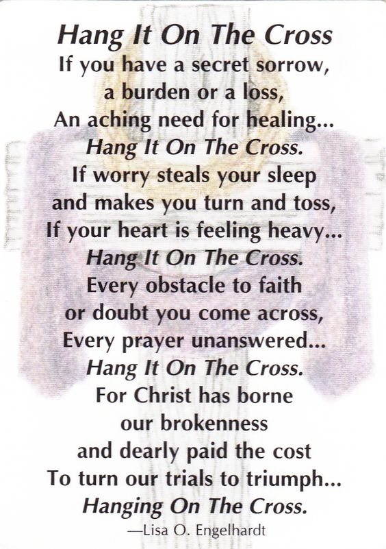 Hang it on the Cross